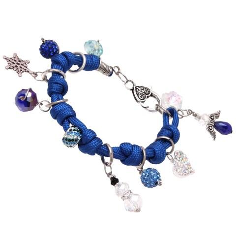 Bleek2Sheek Frozen-themed Knotted Cord Dangle Charm Bracelet