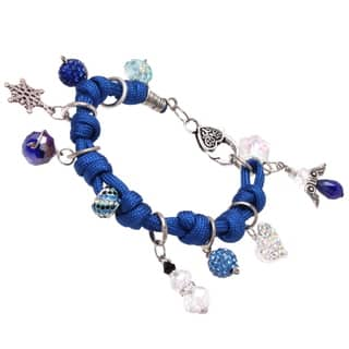 Bleek2Sheek Frozen-themed Knotted Cord Dangle Charm Bracelet|https://ak1.ostkcdn.com/images/products/10792589/P17839928.jpg?impolicy=medium