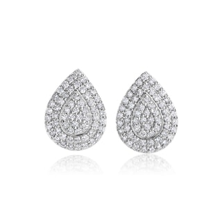 SummerRose 14k White Gold 3/4ct TDW Diamond Pear Shaped Earrings (H-I, SI1-SI2)