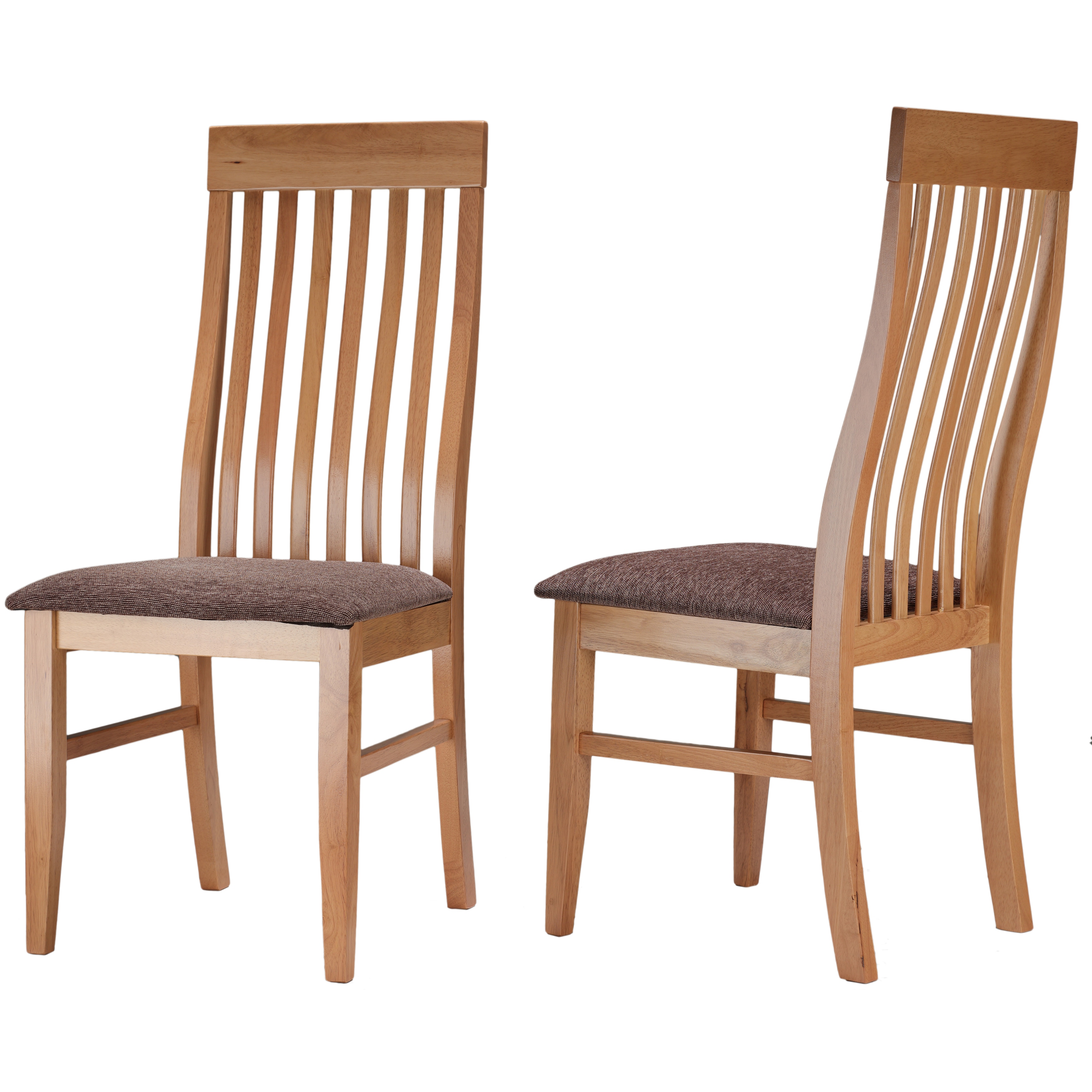 Prime Cortesi Home Como Mission Style Dining Chair In Light Maple Finish And Brown Fabric Seat Set Of 2 Oak Tan Andrewgaddart Wooden Chair Designs For Living Room Andrewgaddartcom