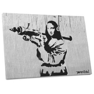 "Banksy ""Mona Lisa with Bazooka Steel Version"" Gallery Wrapped Canvas Wall Art"