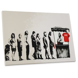 "Banksy ""Destroy Capitalism"" Gallery Wrapped Canvas Wall Art"