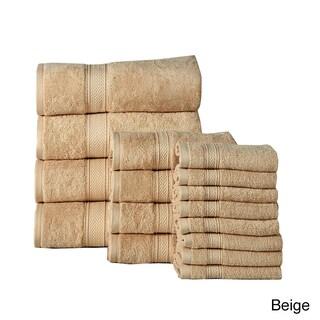 Luxurious Soft Cotton 16-piece 600 GSM Luxury Towel Set (Option: Beige)