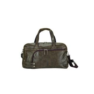 Bellino Travel Work Tablet Multi Pockets Leather Duffel Bag