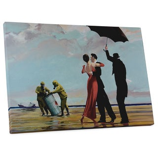 """Banksy """"Dancing at the Toxic Beach"""" Gallery Wrapped Canvas Wall Art"""