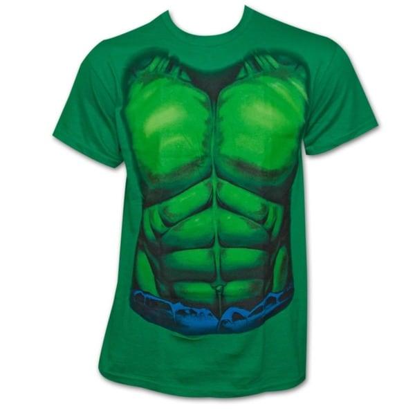 Marvel the hulk costume shirt green free shipping on for Hulk fishing shirts