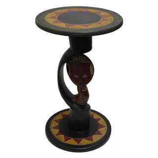 Hand-carved Akuaba Arts Table (Ghana)
