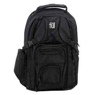 Ful Tennman Black 17-inch Laptop Backpack