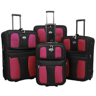 Coronado All Inclusive 4-piece EVA Molded Expandable Rolling Luggage Set