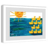 Marmont Hill - Little Rubber Ducks by Eric Carle Painting on Framed Print