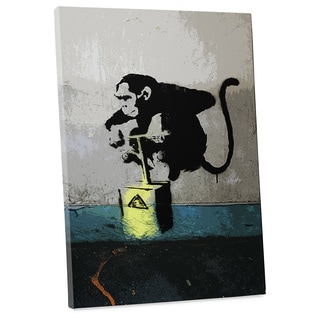 "Banksy ""Detonator Monkey"" Gallery Wrapped Canvas Wall Art"