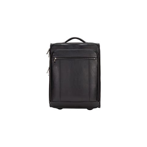 "Goodhope Precision 20-inch Leather Carry On Suitcase w/15-inch Laptop Compartment - 14"" x 19.25"" x 6.5"""