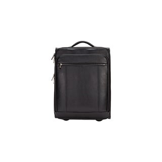 Goodhope Precision 20-inch Leather Carry On Suitcase w/15-inch Laptop Compartment