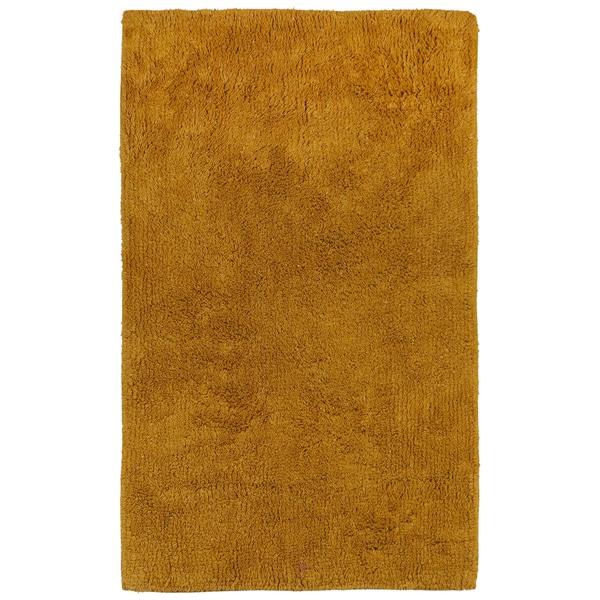 """Plush Pile Gold 30""""x50"""" Bath Rug"""