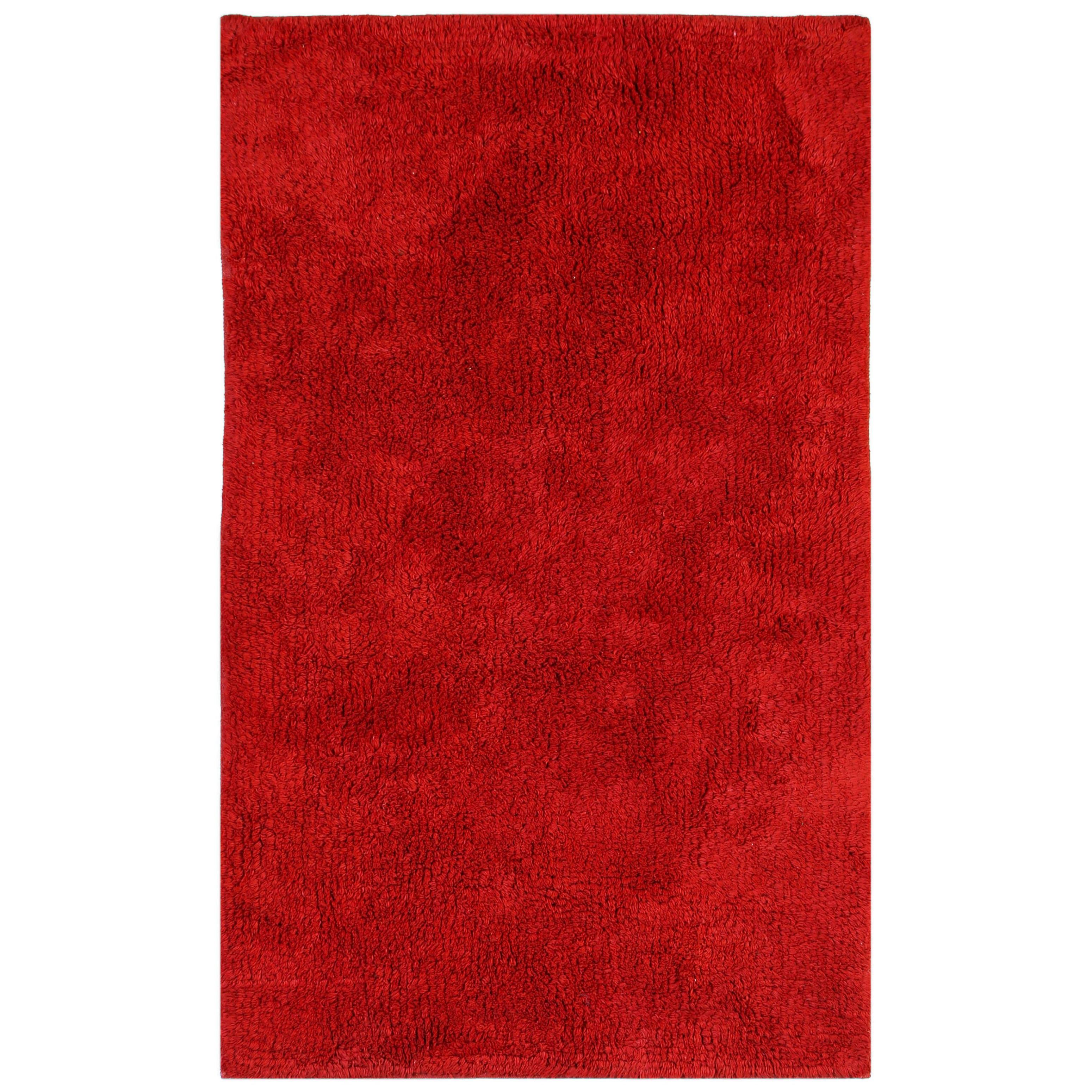 "St. Croix Plush Pile Red 30""x50"" Bath Rug (Plush Pile Red..."