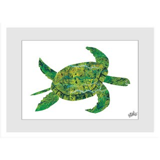 Marmont Hill - Turtle by Eric Carle Painting on Framed Print