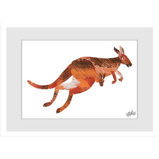 Marmont Hill - ABC Kangaroo by Eric Carle Painting on Framed Print