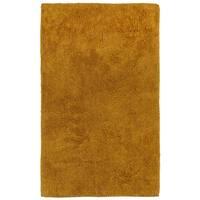 """Plush Pile Gold 21""""x34"""" Bath Rug"""