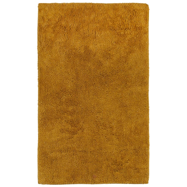 "Shop Plush Pile Gold 21""x34"" Bath Rug"