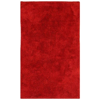 "Plush Pile Red 21""x34"" Bath Rug"