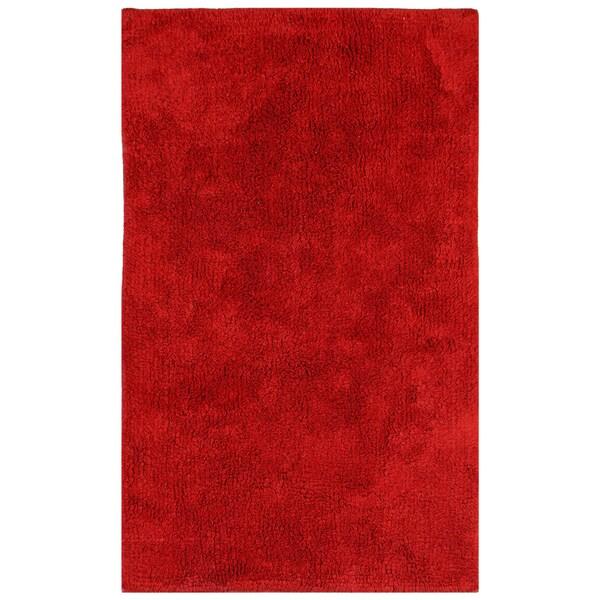 """Plush Pile Red 21""""x34"""" Bath Rug"""