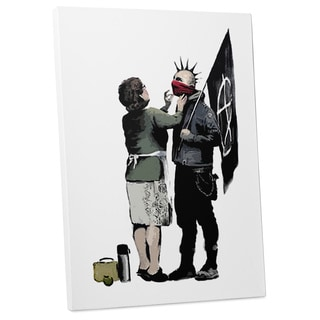 """Banksy """"Mother and the Anarchist"""" Gallery Wrapped Canvas Wall Art"""