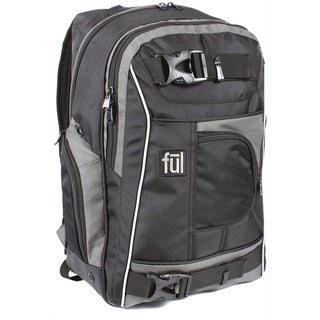 Ful Apex Grey and Black 18-inch Backpack