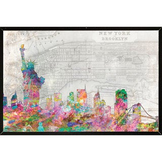 NYC Skyline (36-inch x 24-inch) Wall Plaque