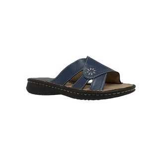 Women's Band Slide Sandal Navy