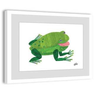 Marmont Hill - 'Green Frog' by Eric Carle Painting on Framed Print