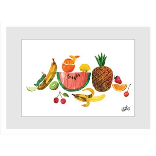 Marmont Hill - Tropical Fruit by Eric Carle Painting on Framed Print