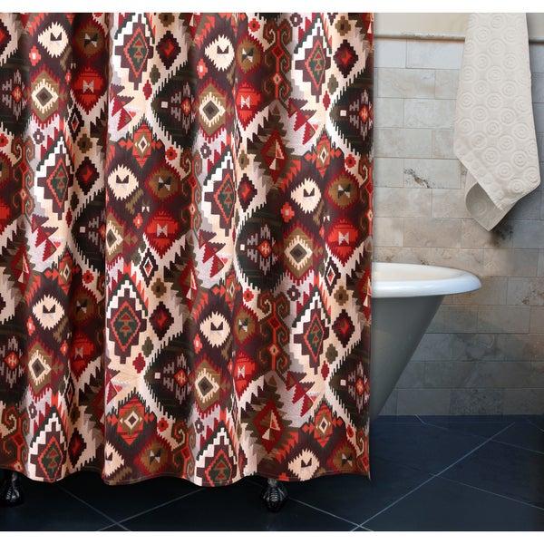 Greenland Home Fashions Folk Festival Rustic Shower Curtain
