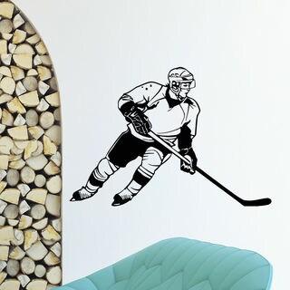 Hockey Player Vinyl Wall Art Decal Sticker