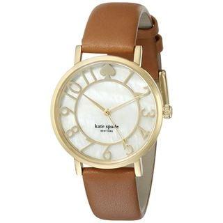 Kate Spade Women's 1YRU0783 'Metro' Brown Leather Watch