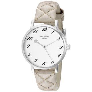 Kate Spade Women's 1YRU0784 'Metro' Grey Leather Watch