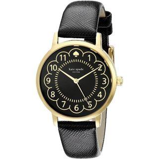 Kate Spade Women's 1YRU0790 'Metro' Black Leather Watch