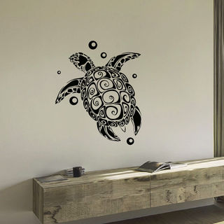 Sea Turtle Vinyl Wall Art Decal Sticker