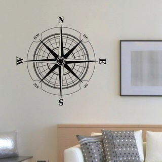 Nautical Decor Compass Vinyl Wall Art Decal Sticker