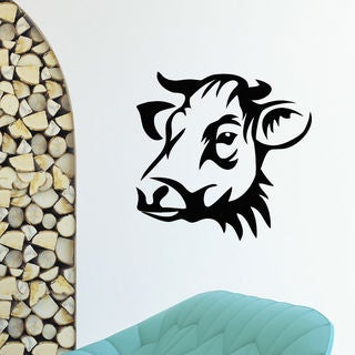 Shop Cow Head Vinyl Wall Art Decal Sticker Free Shipping