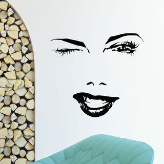 Sexy Face Beauty Salon Decor Vinyl Wall Art Decal Sticker