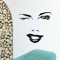 Sexy Face Beauty Salon Decor Vinyl Wall Art Decal Sticker
