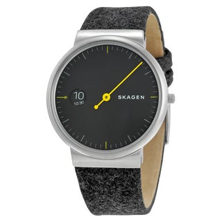 Skagen Men's SKW6199 'Ancher Mono' Black Leather Watch