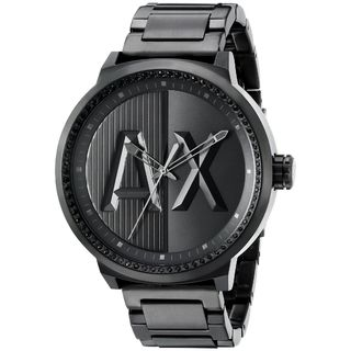 Armani Exchange Men's AX1365 'ATLC' Black Stainless Steel Watch