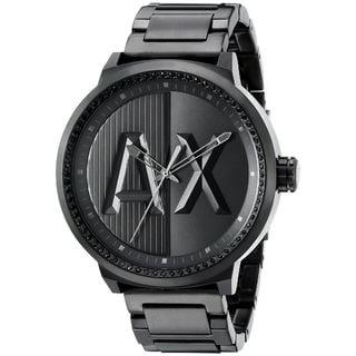 Armani Exchange Men's AX1365 'ATLC' Black Stainless Steel Watch