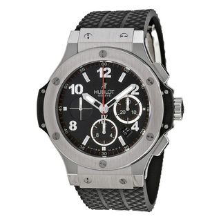 Hublot Men's 301.SX.130.RX 'Big Bang Evolution Black Magic' Chronograph Automatic Carbonfiber Black Rubber Watch