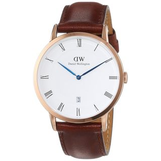 Daniel Wellington Unisex 1100DW 'Dapper St. Mawes' Brown Leather Watch