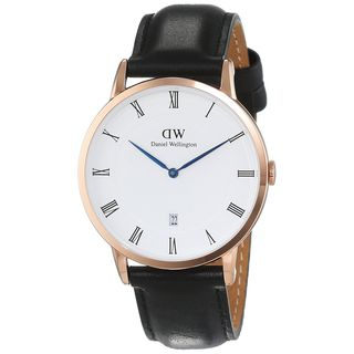Daniel Wellington Unisex 1101DW 'Dapper Sheffield' Black Leather Watch