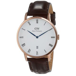 Daniel Wellington Unisex 1102DW 'Dapper York' Brown Leather Watch