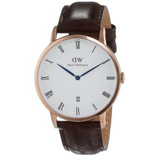 Daniel Wellington Unisex 1102DW 'Dapper York' Brown Leather Watch