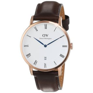 Daniel Wellington Unisex 1103DW 'Dapper Bristol' Brown Leather Watch